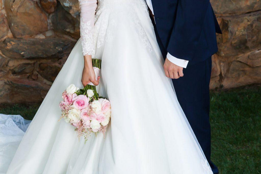 inspiração vestido de noiva manga comprida modesto